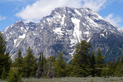 Mountains of the Teton Range near Jenny Lake, Grand Teton National Park, Wyoming, USA