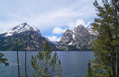 View over Jenny Lake at the foot of Cascade Canyon in Grand Teton National Park, Wyoming, USA