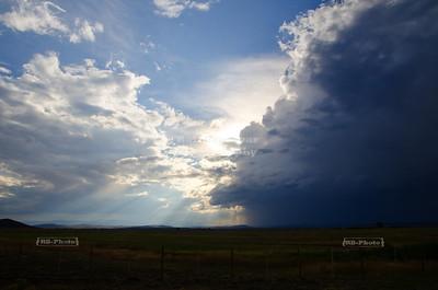 Thunderstorm in the prairie