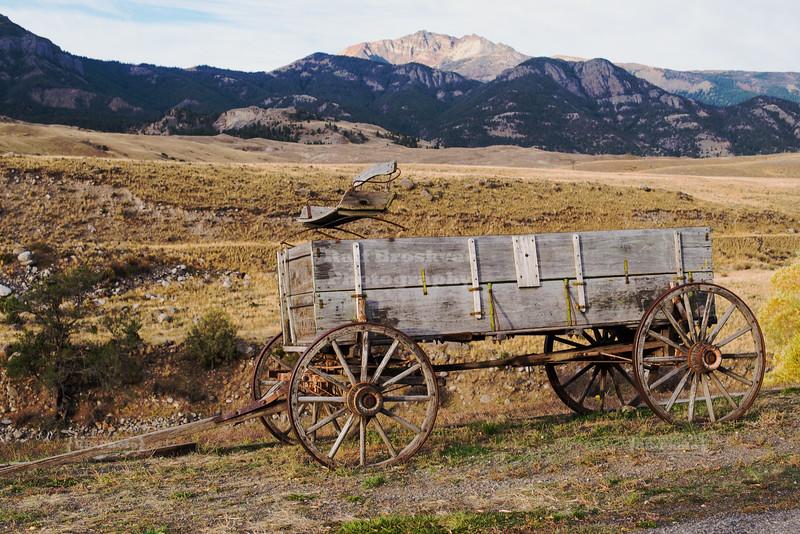 Old Farm Wagon in Montana