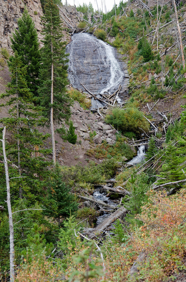 Wraith Falls in Yellowstone National Park