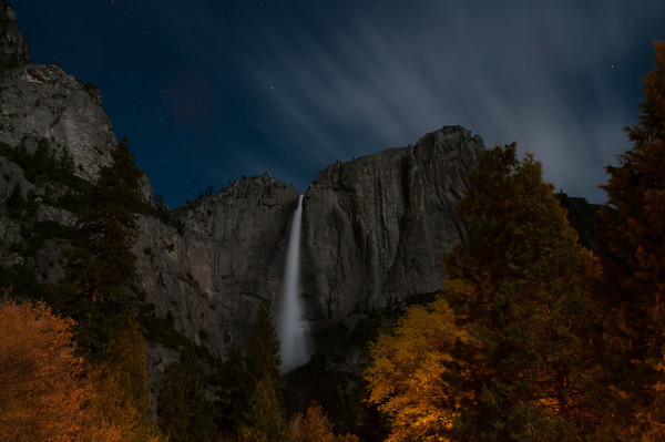 Yosemite Falls at night