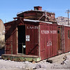 "<strong><center>Last stop for Union Pasific<br> <p style=""text-align: left;"">It got as far as here..... And here is the ghost-town <a class=""aligncenter"" href=""http://en.wikipedia.org/wiki/Rhyolite,_Nevada"" target=""_blank"">Rhyolite </a>in Death Valley.  There used to be a railroad, there used to be lots of things, but today houses, schools, tanks and other contraptions weather slowly away in the desert climate.</p> <p style=""text-align: left;""><span style=""color: #333333;""><em>.</em></span></p>"
