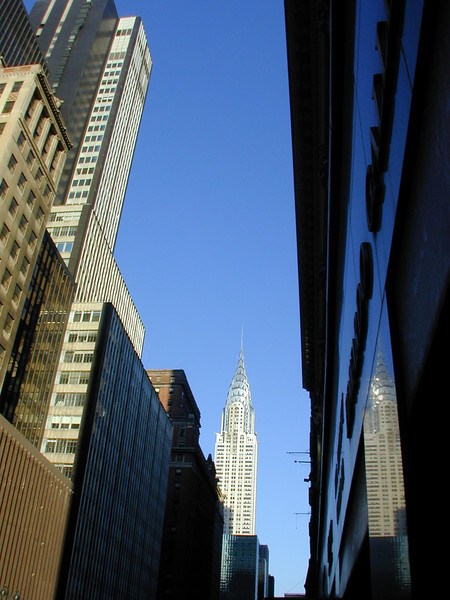 Two Chrysler Buildings! View east along 42nd Street.
