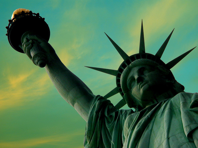 """Liberty Enlightening the World"", Liberty Island, New York City."
