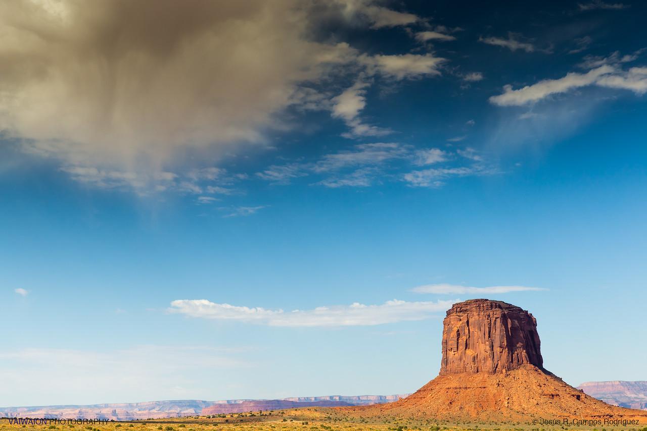 Impending rain over Merrick Butte