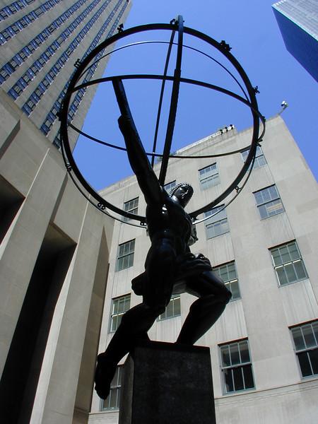 """Atlas"" by Paul Manship, Rockefeller Centre, New York City."