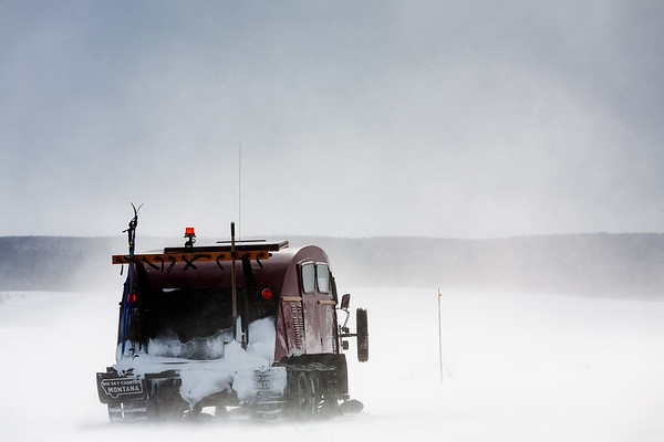 Snowcoach in the Lamar Valley