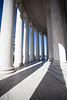 Outside Jefferson Memorial, Washington DC
