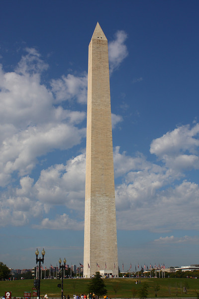 Washington monument DC:  constructed 1848-1884
