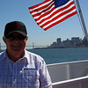 San Francisco in the background - Julian on boat to Alcatraz.