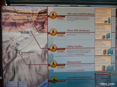 Grand Canyon - Bright Angel Trail Map