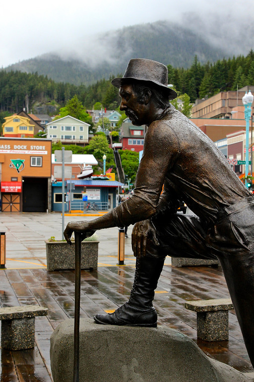 Ketchikan in the rain (rainfall capital of the U.S.A, supposedly).