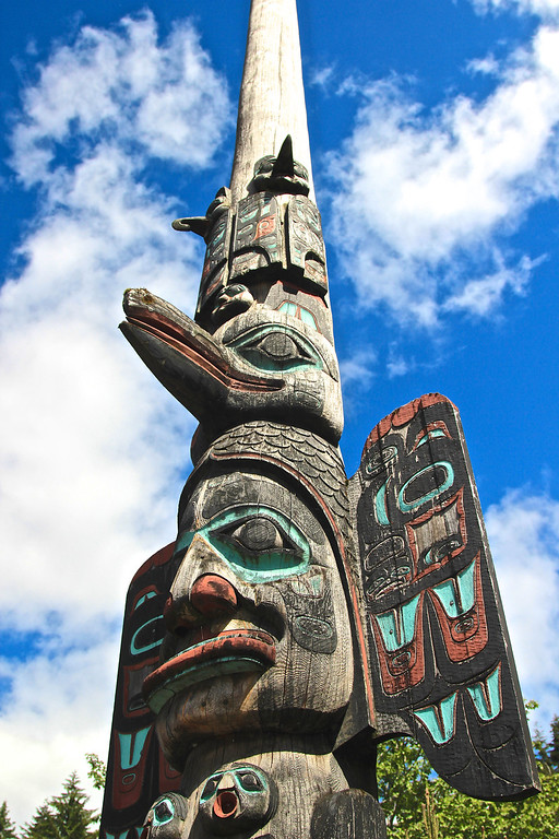 Chief Johnson Totem, downtown Ketchikan