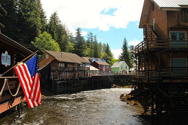 Nothing says America like a pier of former brothels, now tourist shops. Creek Street, Ketchikan