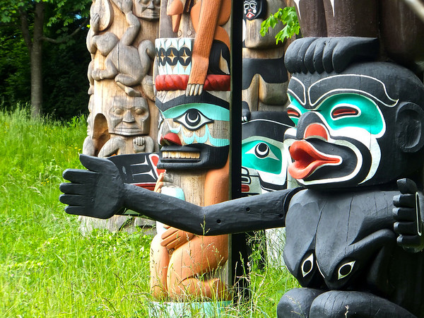 Totems in Stanley Park Vancouver, June 2013