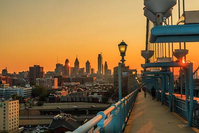 Sunset from Ben Franklin Bridge