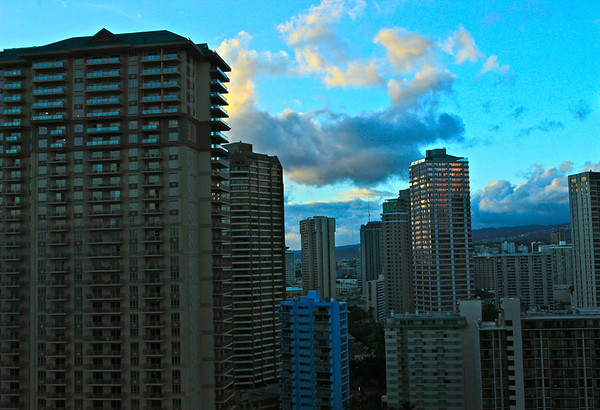 Nighttime Honolulu