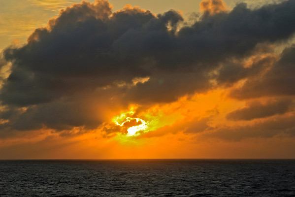 Last sunset at sea