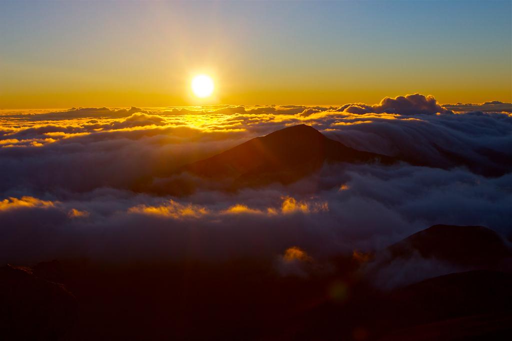 Sunrise from Haleakala Crater, Maui<br /> July 2012