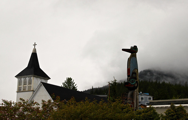 Chief Kyan Totem, downtown Ketchikan