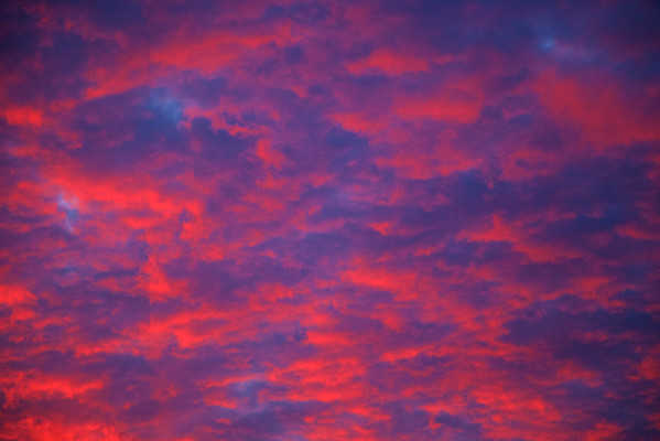 Awesome early morning sky over Harnwell College House