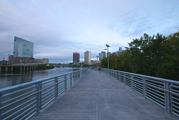New boardwalk extension to the Schuylkill River Trail.  October 2014.
