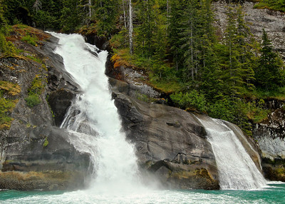 Waterfall near Tracy Arm Fjord Alaska, June 2013