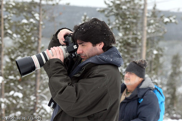 Photographers during winter, YNP