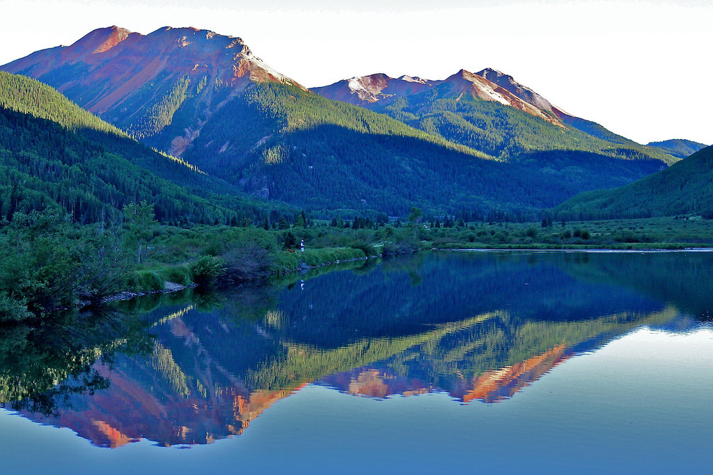 Reflection in Crystal Lake near Red Mountain Pass, Ouray, CO.<br /> Copyright 2011, Tom Farmer