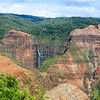 waterfall in Waimea Canyon, Kaua'i Hawaii<br /> Copyright 2009, Tom Farmer