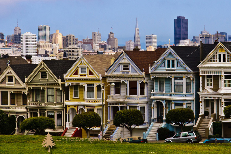 San Francisco's famous Painted Ladies