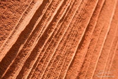 Lines in red sandstone of Southern Utah