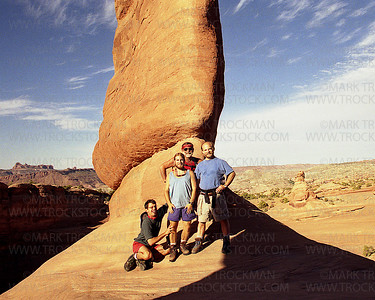 David, Mark, Trucky and Mickey Trockman Underneath Delicate Arch • Arches National Park, Utah