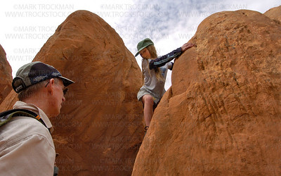 Bouldering In Devil's Garden • Arches National Park, Utah • 2006