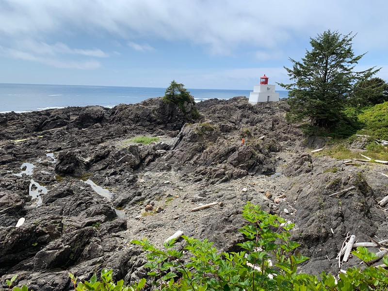 The Amphitrite Lighthouse along the LIghthouse Loop section of the Wild Pacific Trail is stunning in its simplicity.