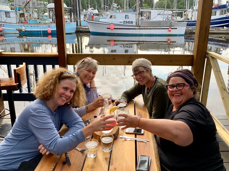 We all enjoyed dinner on our final night at the Floathouse Restaurant in Ucluelet.