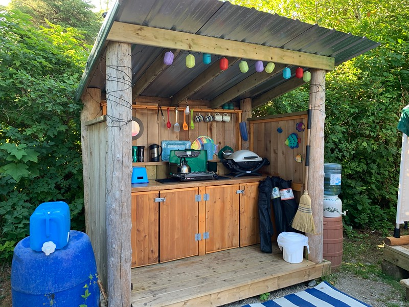 Our outdoor kitchen area.