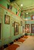 Inner royal rooms at City Palace, Udaipur, Rajasthan, India.