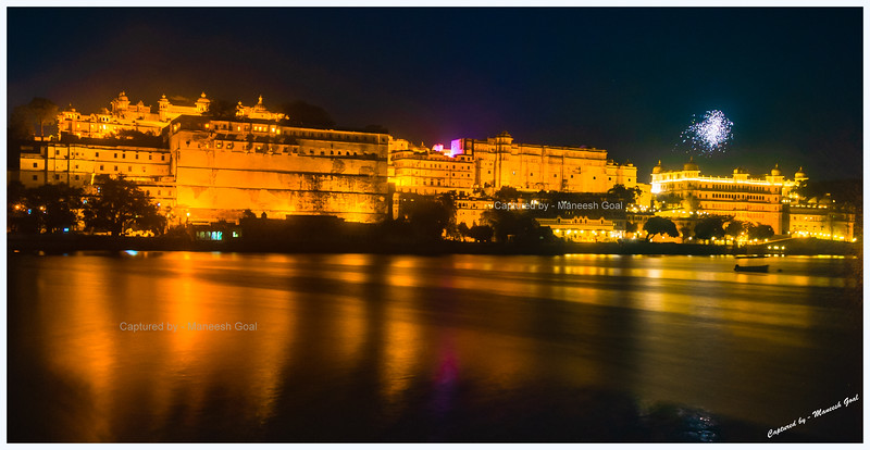 City Palace on the Banks of Lake Pichola, Udaipur - Shot from Ambrai Ghat