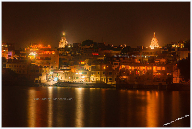 Jagdish Temple (Left) on the Banks of Lake Pichola, Pictured From Ambrai Ghat, Udaipur