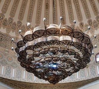 A chandelier in the Uganda National Mosque