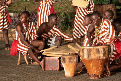 Dancers at the Ndere Cultural Center.  The dancers perform traditional dances from all  over Uganda.