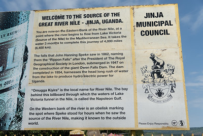 Information about the source of the Nile, John Hanning Speke, and Rippon Falls.