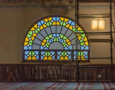 One of the beautiful windows in the Uganda National Mosque