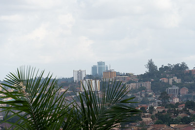 View of Kampala from the grounds of the Ba'hai temple.