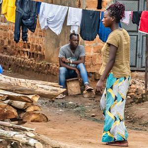 Street scene as I left Kampala for Gulu