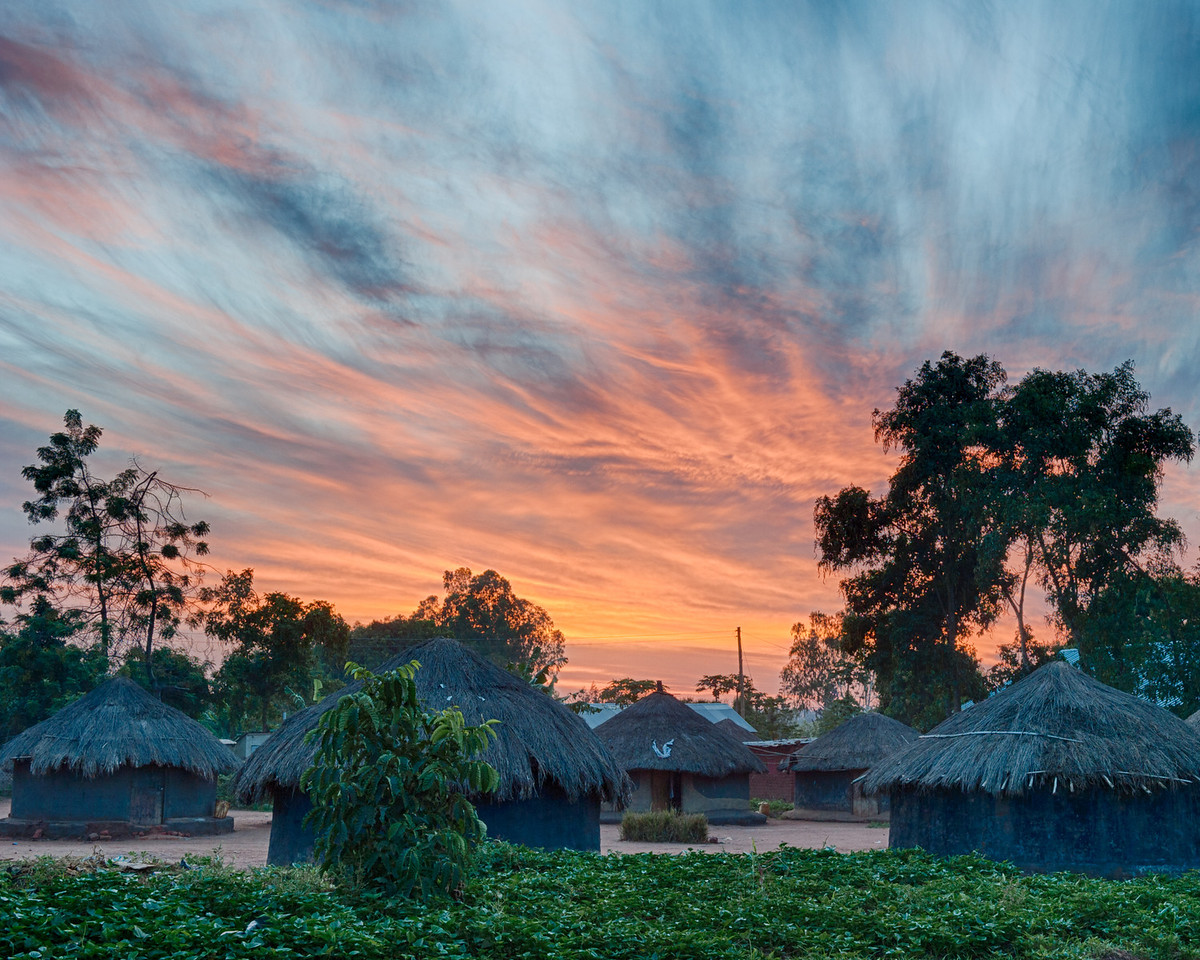 Sunrise over Gulu.