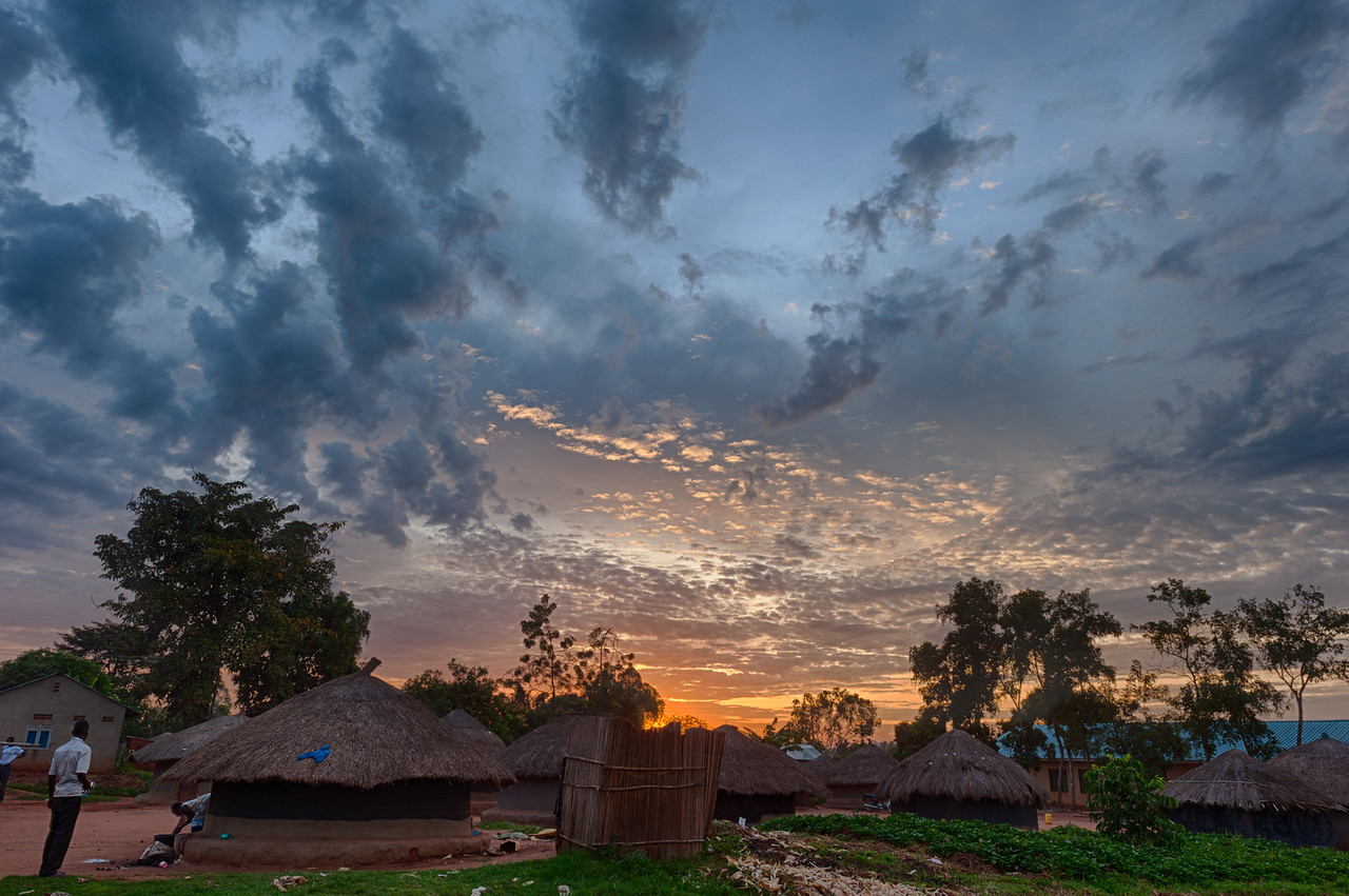 Sunrise over nearby town called Gulu.  Our team stayed in a guest house in town since there is not enough room yet on campus for guests.