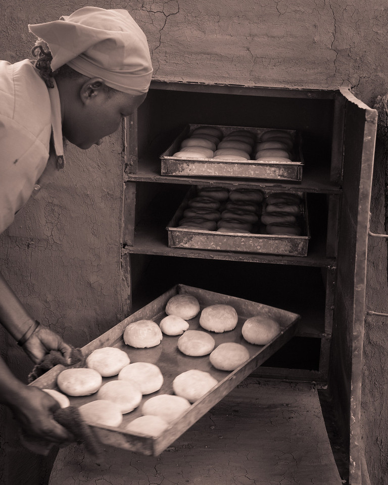 Baking is one of the vocational skills the girls learn.